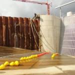 Bariera ochronna dla ryb EBOR na stopniu wodnym w Oławie